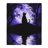 Cat throw blanket Fleece Blankets