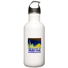 Seattle WA Golden Skyline Sports Water Bottle