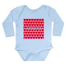 I Love Seattle Long Sleeve Infant Bodysuit