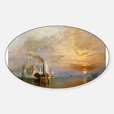 Unique Fine art Sticker (Oval)