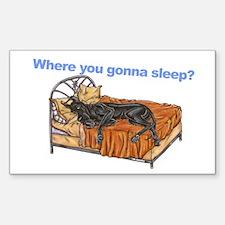CBlk Where you gonna sleep Sticker (Rectangle)