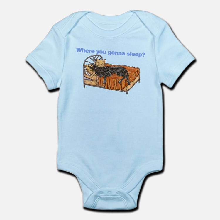 CBlk Where you gonna sleep Infant Bodysuit