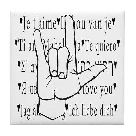I Love You, ASL Tile Coaster