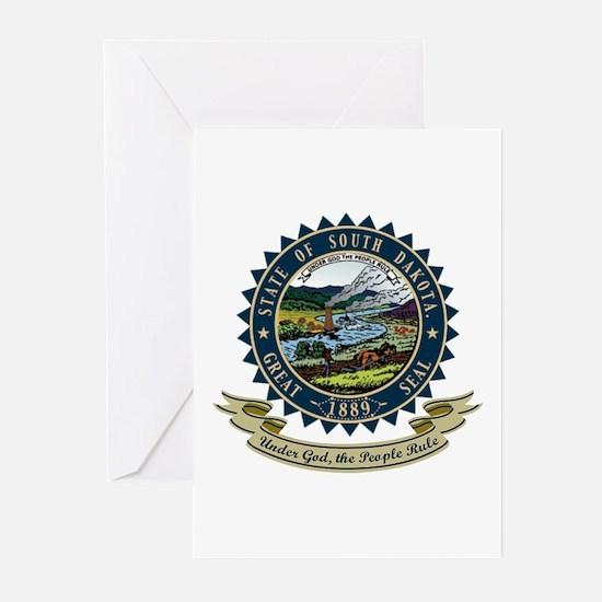 South Dakota Seal Greeting Cards (Pk of 10)