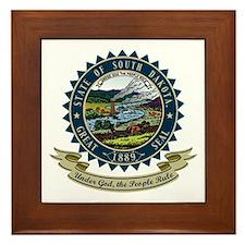 South Dakota Seal Framed Tile