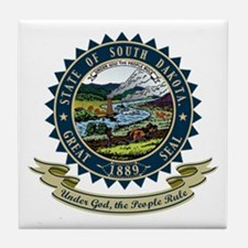 South Dakota Seal Tile Coaster
