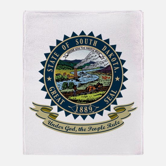 South Dakota Seal Throw Blanket