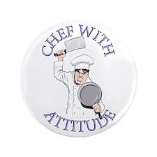 """Male Chef with Attitude 3.5"""" Button"""