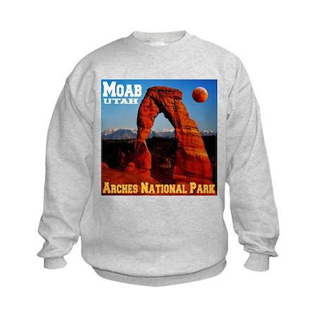 Moab, UT Kids Sweatshirt