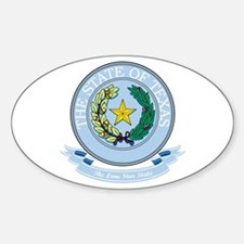 Texas Seal Sticker (Oval)