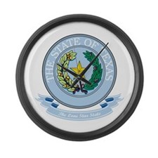 Texas Seal Large Wall Clock