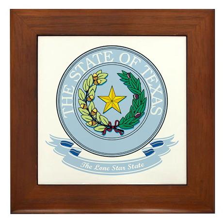 Texas Seal Framed Tile