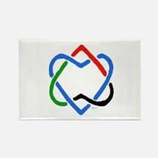 Peace Shalom Salaam Rectangle Magnet