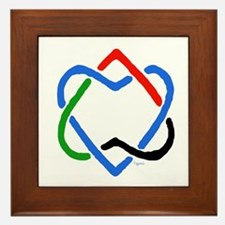Peace Shalom Salaam Framed Tile
