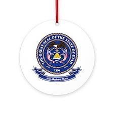 Utah Seal Ornament (Round)