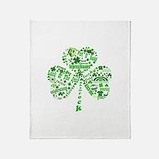 St Paddys Day Shamrock Throw Blanket