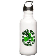 Rock Out With Your Shamrock Out Water Bottle
