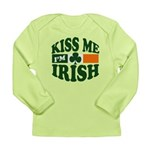 Kiss Me I'm Irish Long Sleeve Infant T-Shirt