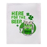 Here For The Beer! Throw Blanket
