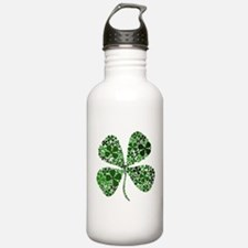 Infinite Luck Four Leaf Clove Water Bottle