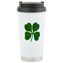 Lucky Four Leaf Clover Travel Mug