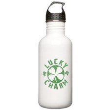 Lucky Charm 4 Leaf Clover Water Bottle