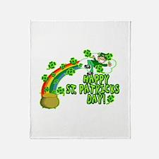 Cute Leprechaun Throw Blanket