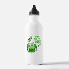 Green Beer Innuendo Water Bottle