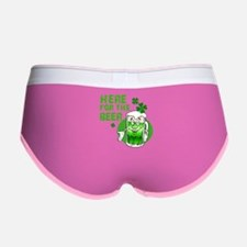 Here for the beer! St Pats Women's Boy Brief