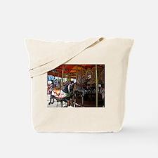 ASTROLAND BLACK CAROUSEL HORS Tote Bag