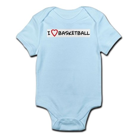 I Love Basketball Infant Creeper