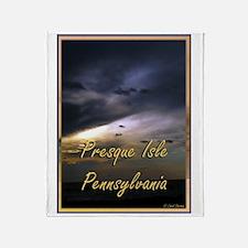 Presque Isle, Erie, PA Throw Blanket