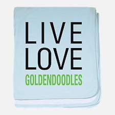 Live Love Goldendoodles baby blanket