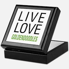 Live Love Goldendoodles Keepsake Box