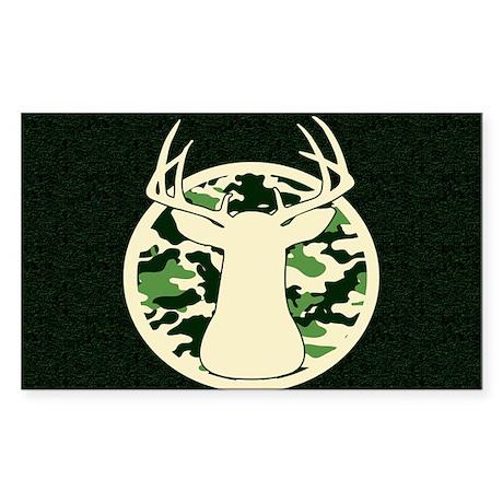 CAMO BUCK Sticker (Rectangle 10 pk)