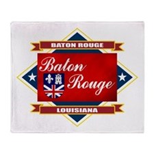 Baton Rouge Flag Throw Blanket