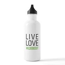 Live Love Wildebeest Water Bottle