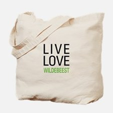Live Love Wildebeest Tote Bag