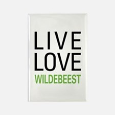 Live Love Wildebeest Rectangle Magnet