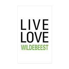 Live Love Wildebeest Decal