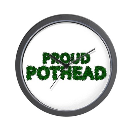 Proud Pothead Wall Clock