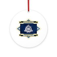 Charleston Flag Ornament (Round)