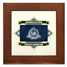 Charleston Flag Framed Tile