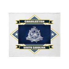 Charleston Flag Throw Blanket