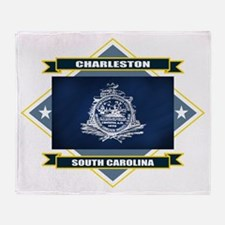 Charleston Flag Throw Blanket