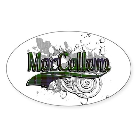 MacCallum Tartan Grunge Sticker (Oval)