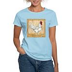 Gold Framed Rooster Women's Light T-Shirt