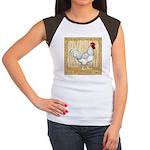 Gold Framed Rooster Women's Cap Sleeve T-Shirt
