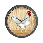 Gold Framed Rooster Wall Clock