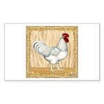 Gold Framed Rooster Sticker (Rectangle 50 pk)